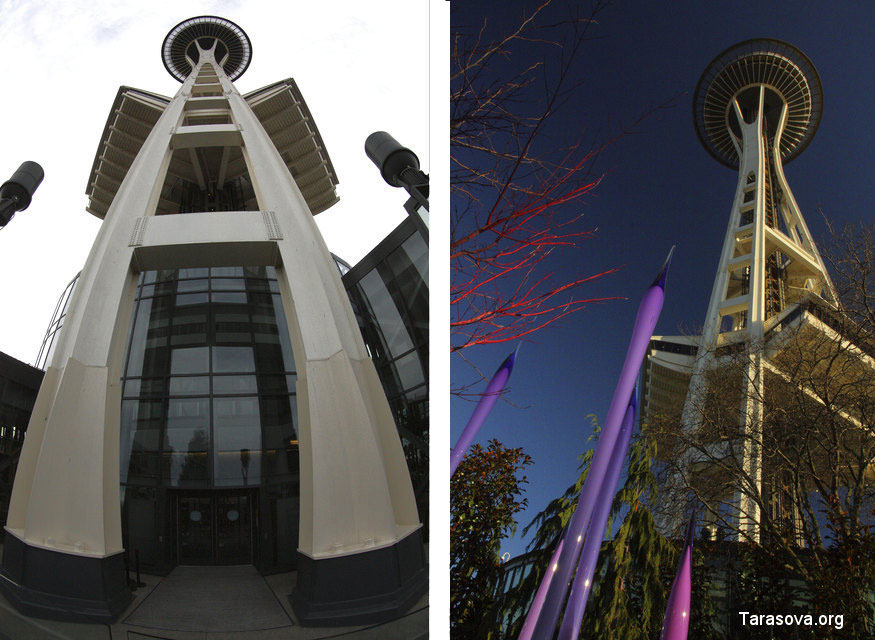Центр тяжести Space Needle находится в 1.5 метрах над землей