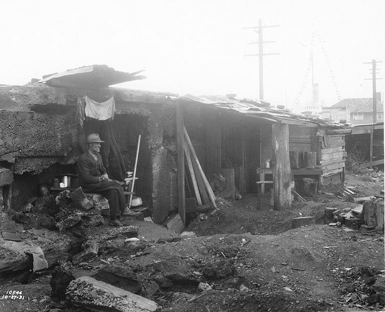 the history of hoovervilles and government camps In october of 1929, the stock market experienced a devastating crash resulting in an unprecedented number of people in the us without homes or jobs, a period of history now known as the clutch.