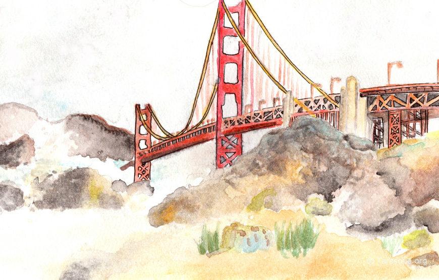 Золотые Ворота в Сан-Франциско. Golden Gate Bridge in San Francisco  Часть 1