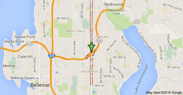 Улица 148 Ave NE  на карте