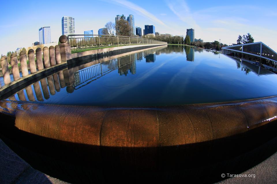 Фонтан в Центральном парке Беллвью